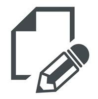 Icon Schreiben 1 grau
