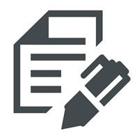 Icon Schreiben 2 grau